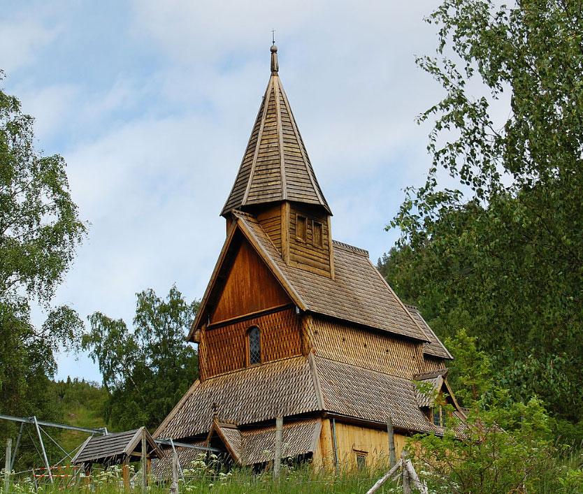 Skjolden Urnes Stave Church - Urnes norway map